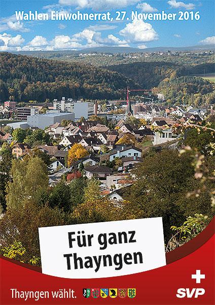 Flyer 1 Einwohnerratswahlen SVP Thayngen Kt Schaffhausen