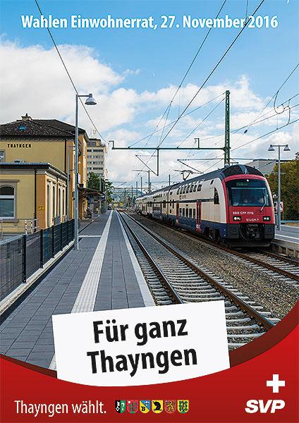 Flyer 2 Einwohnerratswahlen SVP Thayngen Kt Schaffhausen