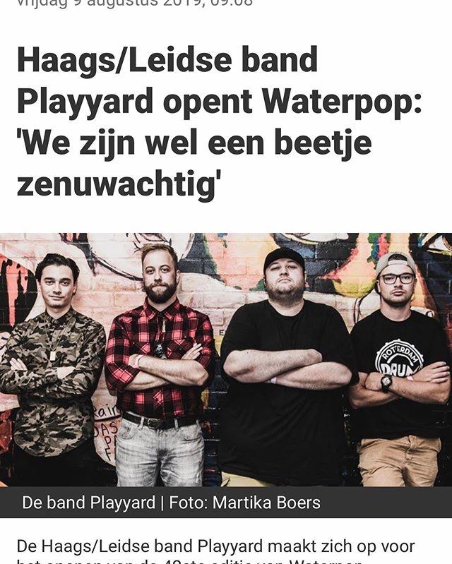 Morgen is het zover dan staan wij op Waterpop 2019! 🤘🏼 Na de super spannende bandcompetitie 'Waterproof 2019' mogen wij het festival openen om 13:00 sharp!  Be there and check us out! 💪🏼