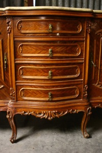 Renaissance Antiques Dublin Ireland NICE CARVED WOOD SIDEBOARD