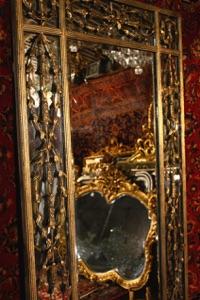 Renaissance Antique Dublin Ireland METAL FRAMED MIRROR