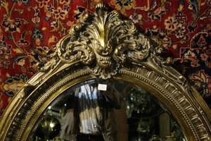 Renaissance Antique Dublin Ireland DULL GOLD OVAL MIRROR