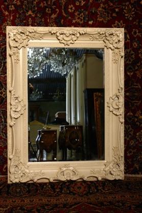 Renaissance Antique Dublin Ireland CREAM MIRROR
