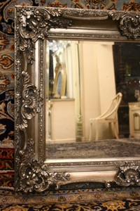 Renaissance Antique Dublin Ireland SILVER FRAMED MIRROR
