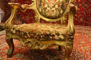 Large heavily carved antique chair renaissance antique dublin ireland
