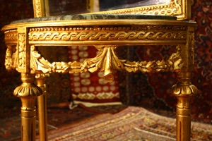 Renaissance Antiques Dublin Ireland HAND CARVED GILT CONSOLE