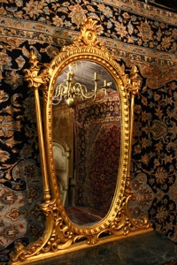 Renaissance Antiques Dublin Ireland NICELY FINISHED CONSOLE WITH MIRROR