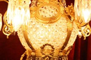 Renaissance Antique Dublin Ireland ORNATE BRASS LARGE CHANDELIER