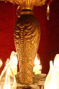 Renaissance Antique Dublin Ireland DARK OLD CHANDELIER