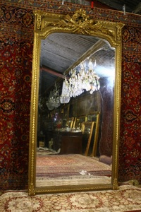 Renaissance Antique Dublin Ireland VARY LARGE SOLID WOOD MIRROR
