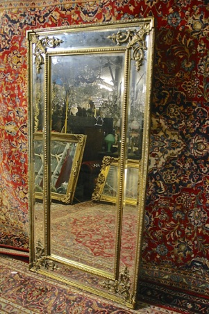 Renaissance Antique Dublin Ireland TALL DOUBLE FRAMED MIRROR