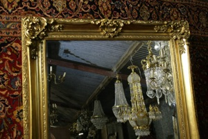Renaissance Antique Dublin Ireland LARGE MIRROR WITH NICE THICK MOULDINGS