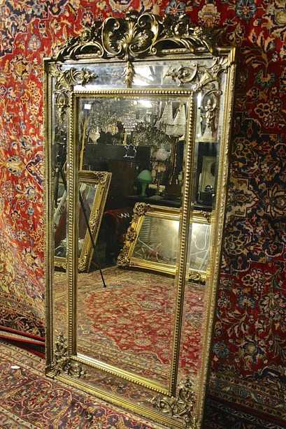 Renaissance Antique Dublin Ireland TALL FULL LENGHT DOUBLE FRAMED MIRROR