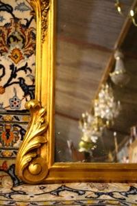 Renaissance Antique Dublin Ireland CARVED WOOD OVERMANTLE MIRROR