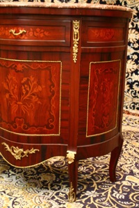 Renaissance Antiques Dublin Ireland MARBLE TOPPED INLAID CABINET