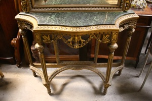 Renaissance Antiques Dublin Ireland NICE CARVED WOOD GILT CONSOLE TABLE