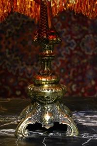Renaissance Antique Dublin Ireland BRASS TABLE LAMP