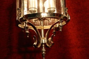 Renaissance Antique Dublin Ireland SOLD BRASS MEDIUM CHROMED LANTERN