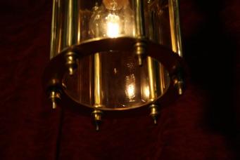 Renaissance Antique Dublin Ireland SMALL SOLD BRASS LANTERN