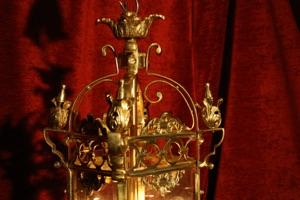 Renaissance Antique Dublin Ireland SOLID BRASS SQUARE LANTERN