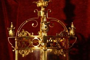 Renaissance Antique Dublin LARGE HEAVY BRASS LANTERN
