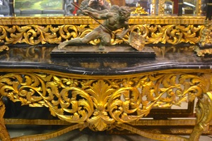 Renaissance Antiques Dublin Ireland VERY LARGE HEAVILY CARVED CONSOLE TABLE