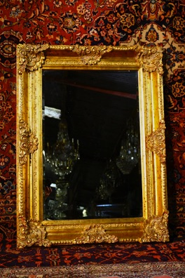 Wood framed mirror with antique style finish Renaissance Antique dublin ireland