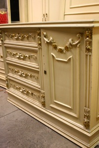 Renaissance Antiques Dublin Ireland Old painted white/cream chest of drawers