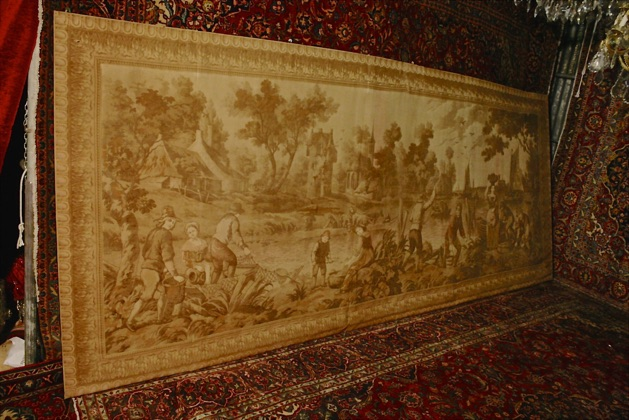 Renaissance Antique Dublin Ireland THIS IS A HUGE 12 FOOT 6 INCH TAPESTRY