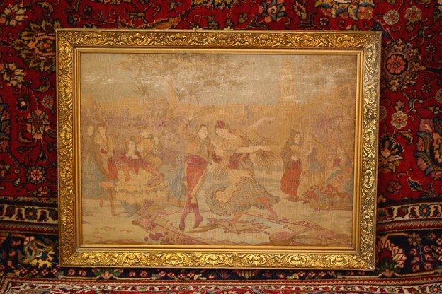 Renaissance Antique Dublin Ireland This is a nice old tapestry depicting dancers