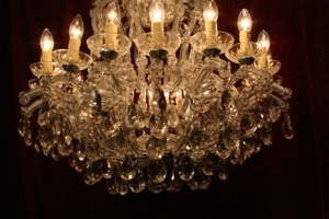 Renaissance Antique Dublin Ireland MARIE THERESE GLASS AND CRYSTAL CHANDELIER