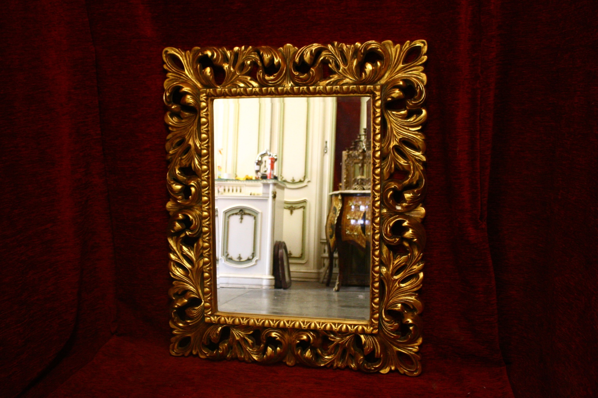 Renaissance Antique Dublin Ireland Rectangular gilt mirror