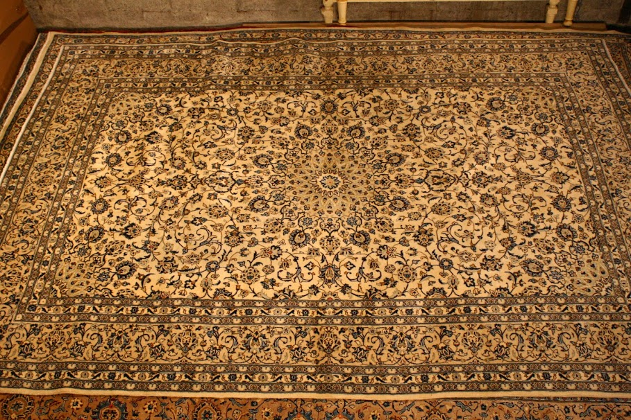royal kashan hand knotted carpet with fine kork wool Renaissance Antique Furniture and Lighting Warehouse Dublin Ireland