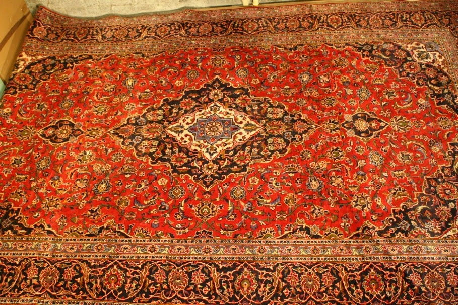 extra large kashan hand knotted persian carpet Renaissance Antique Furniture and Lighting Warehouse Dublin Ireland