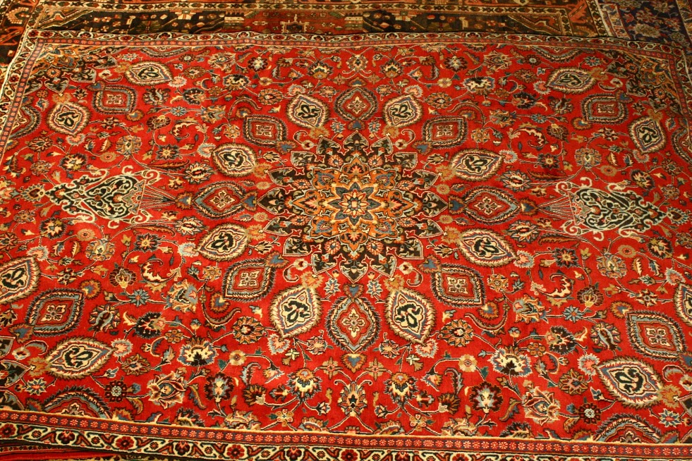 hand knotted persian mashad carpet Renaissance Antique Furniture and Lighting Warehouse Dublin Ireland