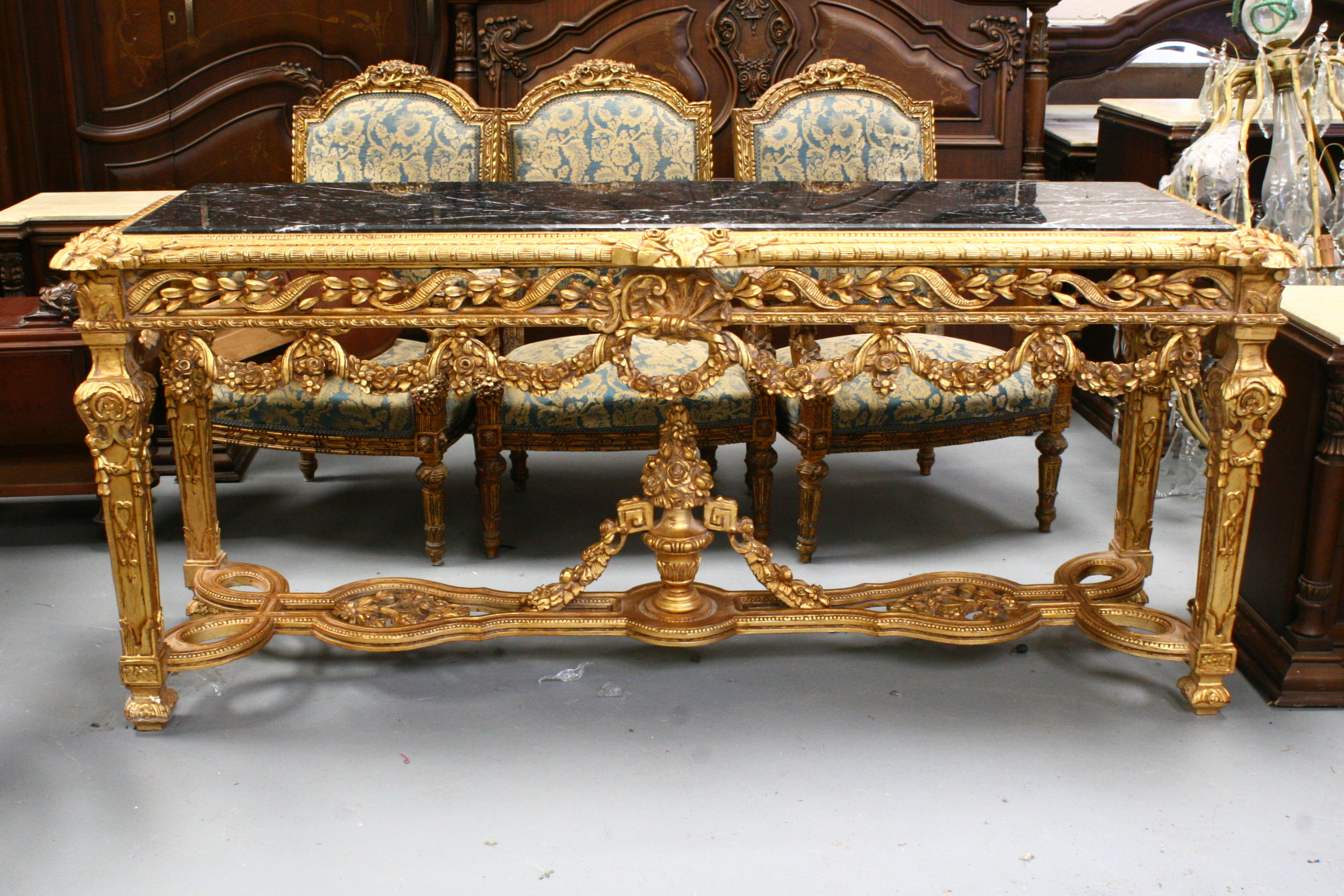 fine console table Renaissance Antique Furniture and Lighting Warehouse Dublin Ireland