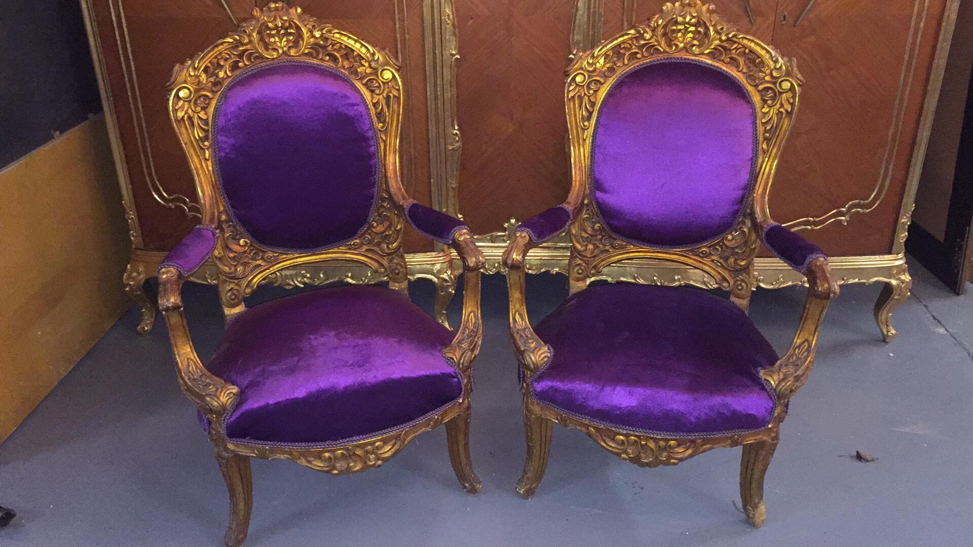 Renaissance Antique Furniture and Lighting Warehouse Dublin Ireland gilt sofa