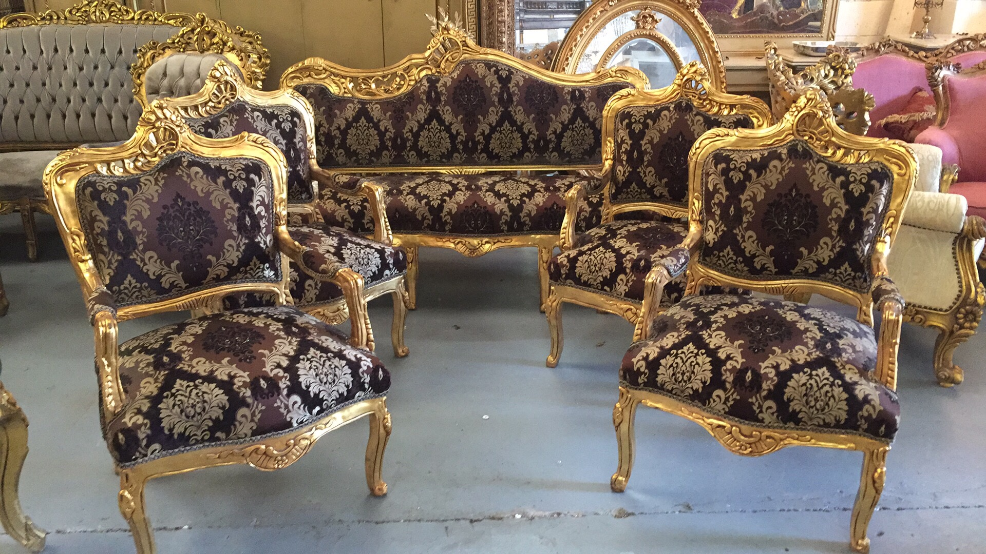 Renaissance Antique Furniture and Lighting Warehouse Dublin Ireland salon antiques