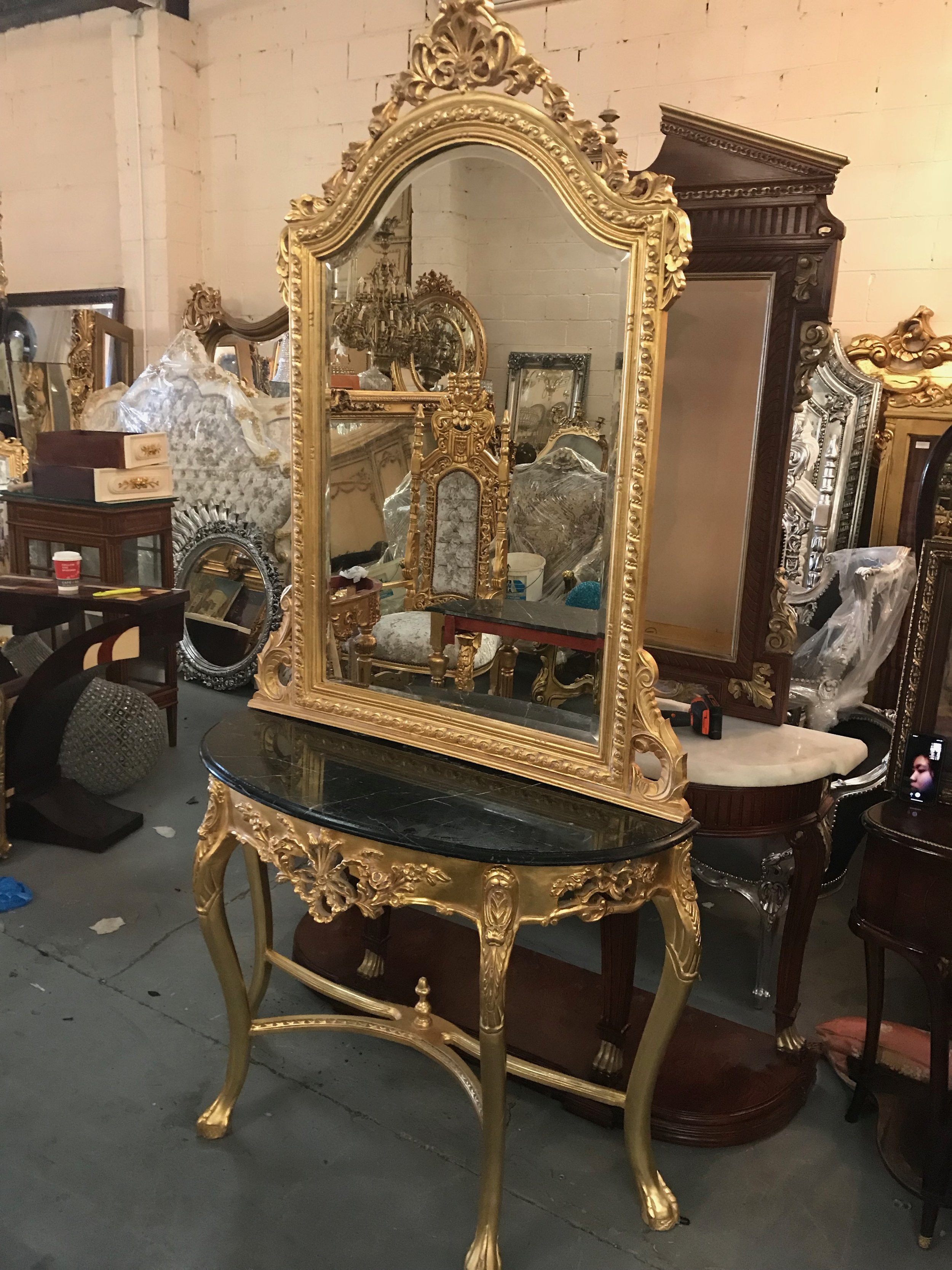 antique gilt console Renaissance Antique Furniture and Lighting Warehouse Dublin Ireland