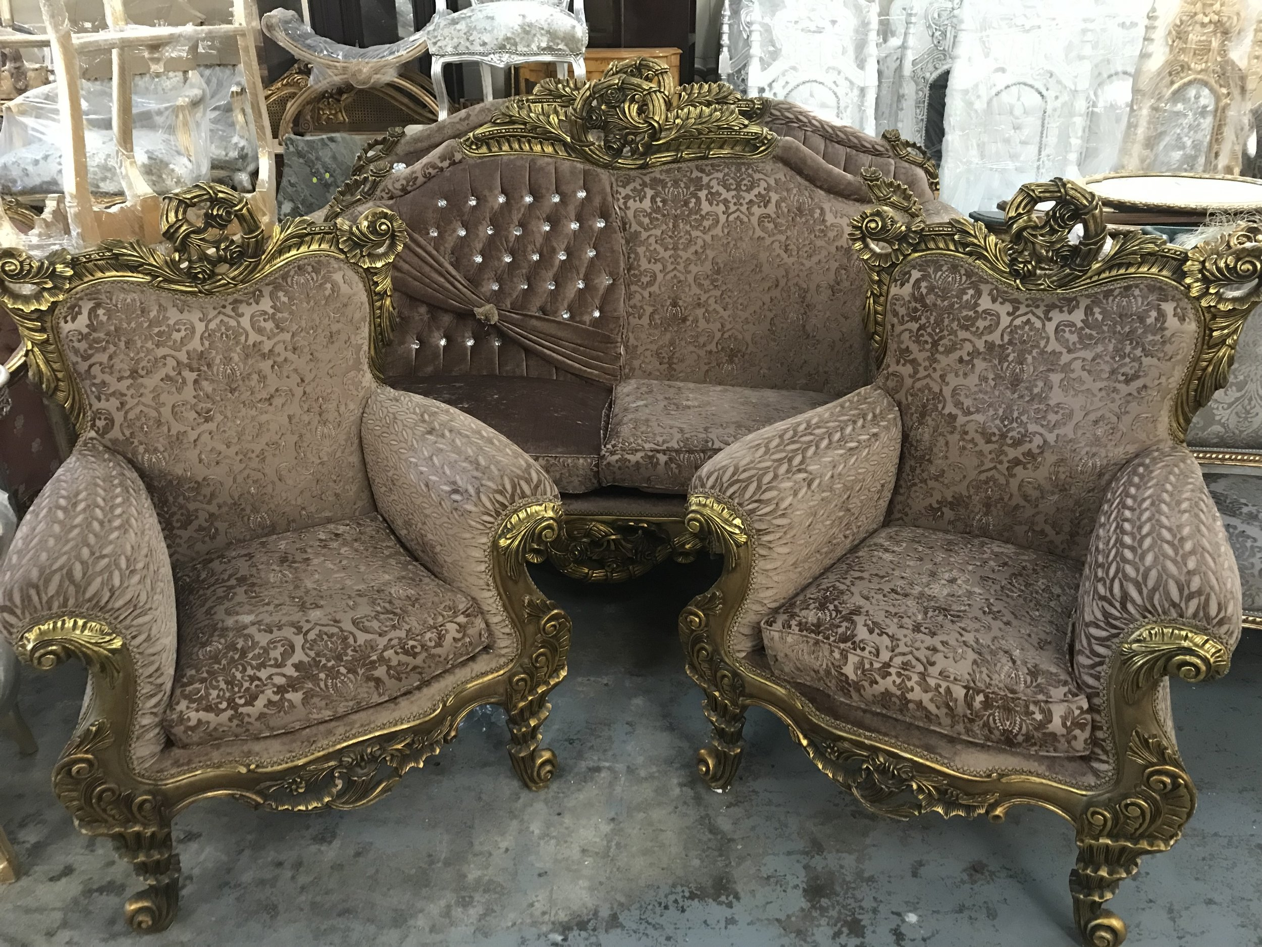 salon furniture Renaissance Antique Furniture and Lighting Warehouse Dublin Ireland