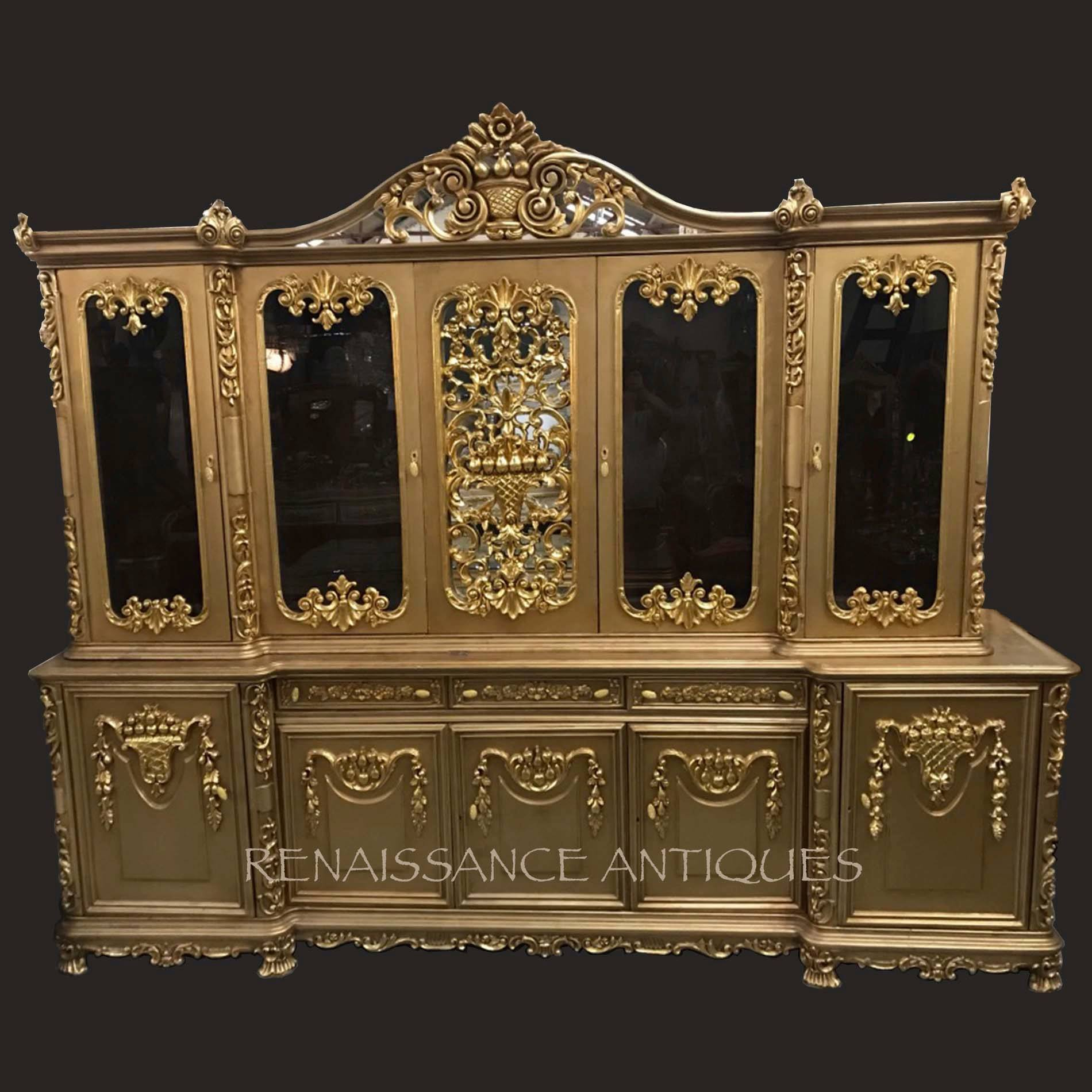 very large vitrine cabinet Renaissance Antique Furniture and Lighting Warehouse Dublin Ireland