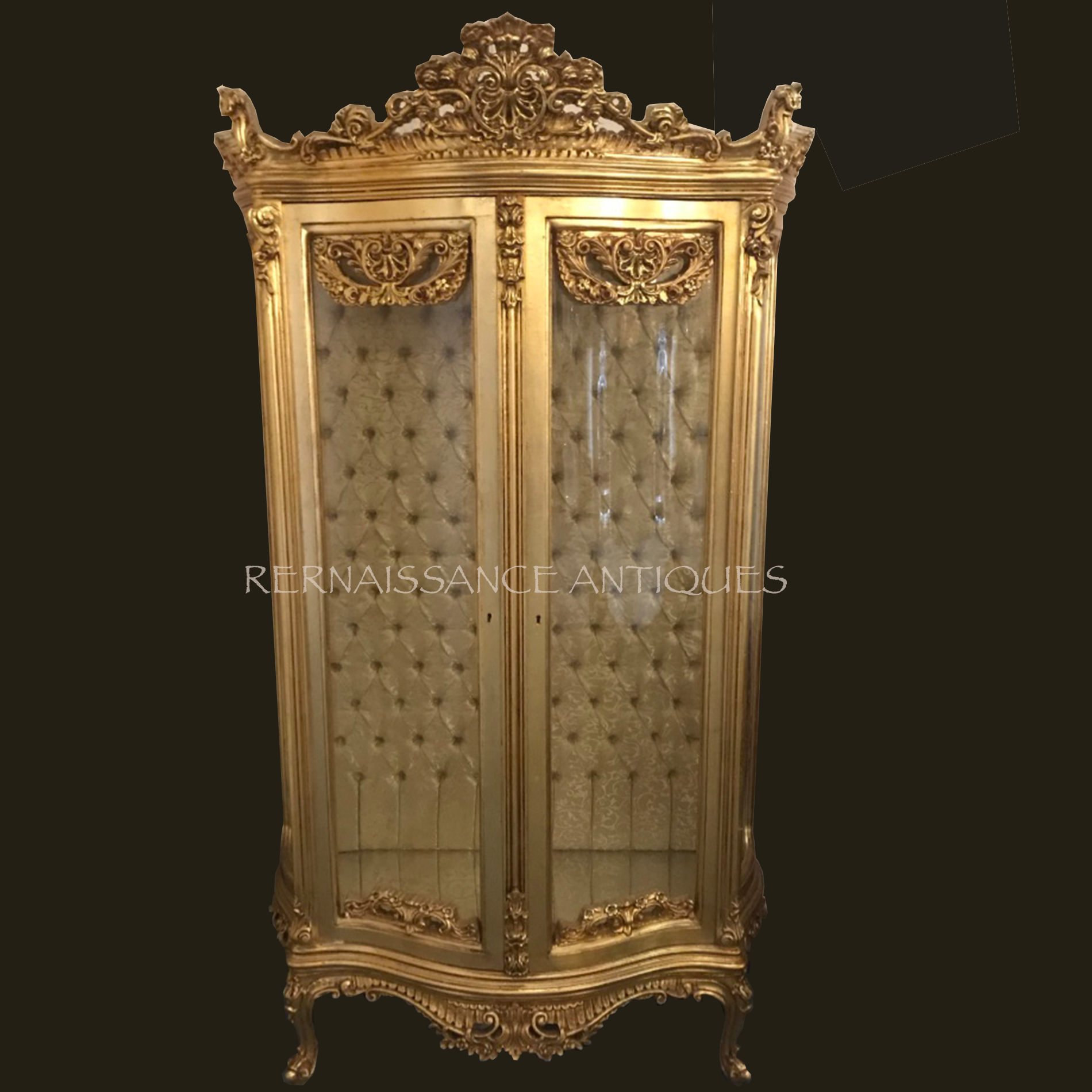 gold double doored vitrine cabinet.png
