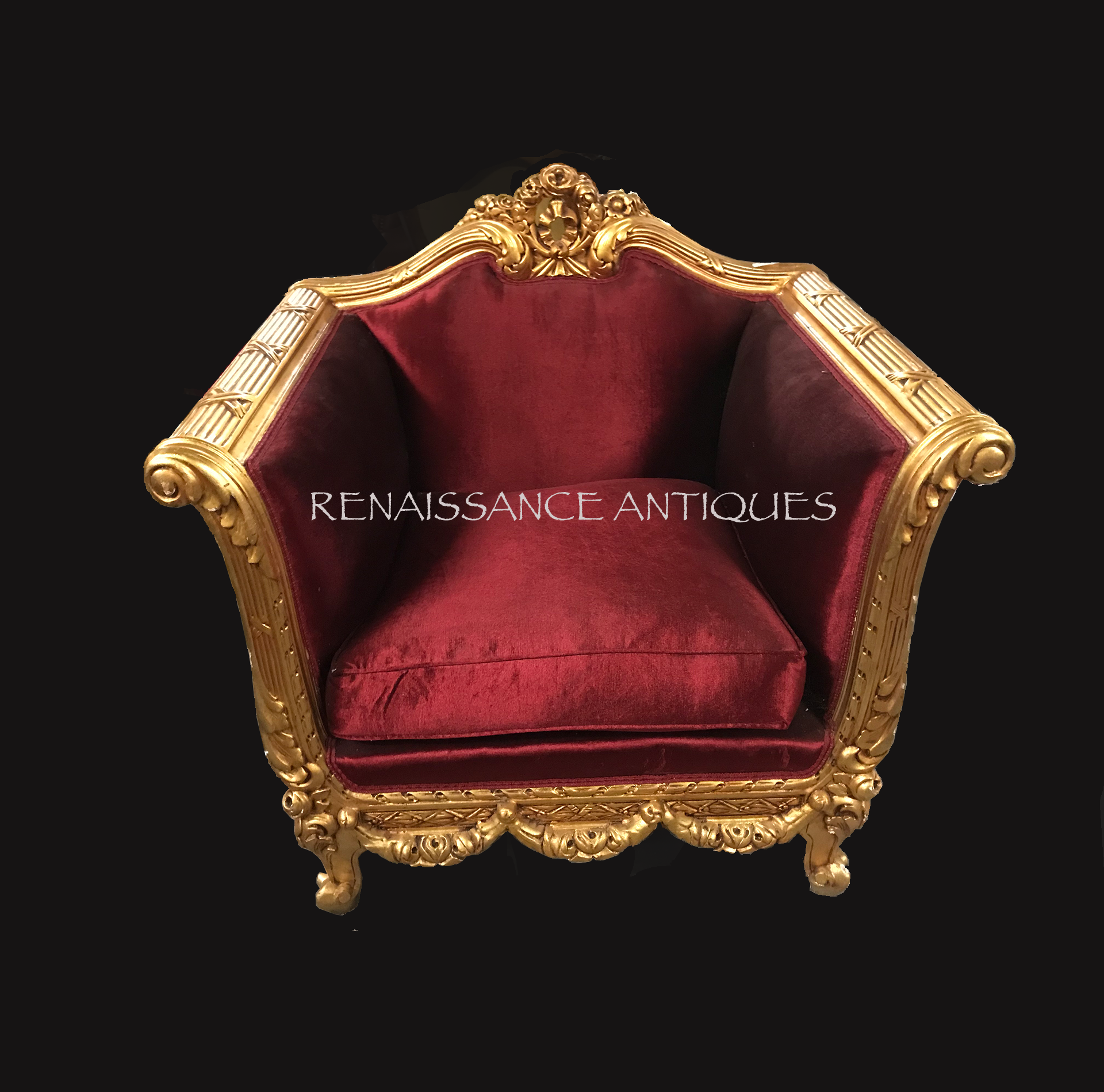 Gold gilt throne style chair-.png