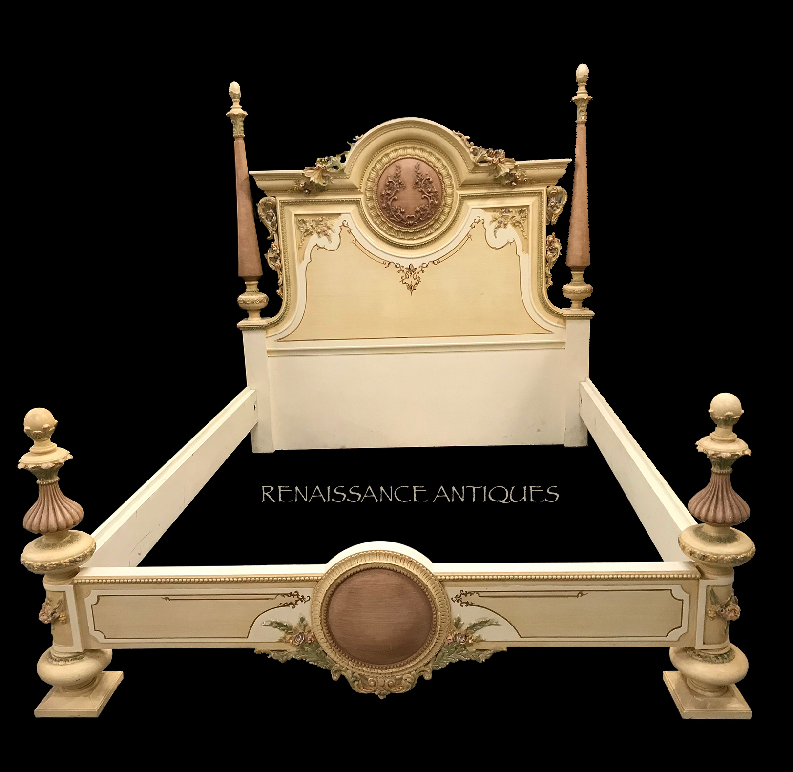 Very nice antique style bed .. Renaissance Antique Furniture and Lighting Warehouse Dublin Ireland