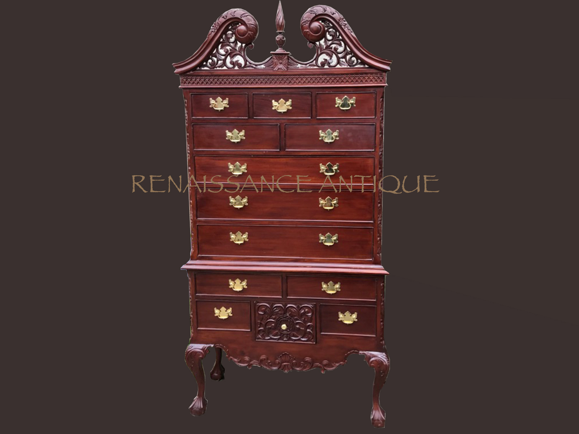 Large tallboy chest of drawers.. Renaissance Antique Furniture a