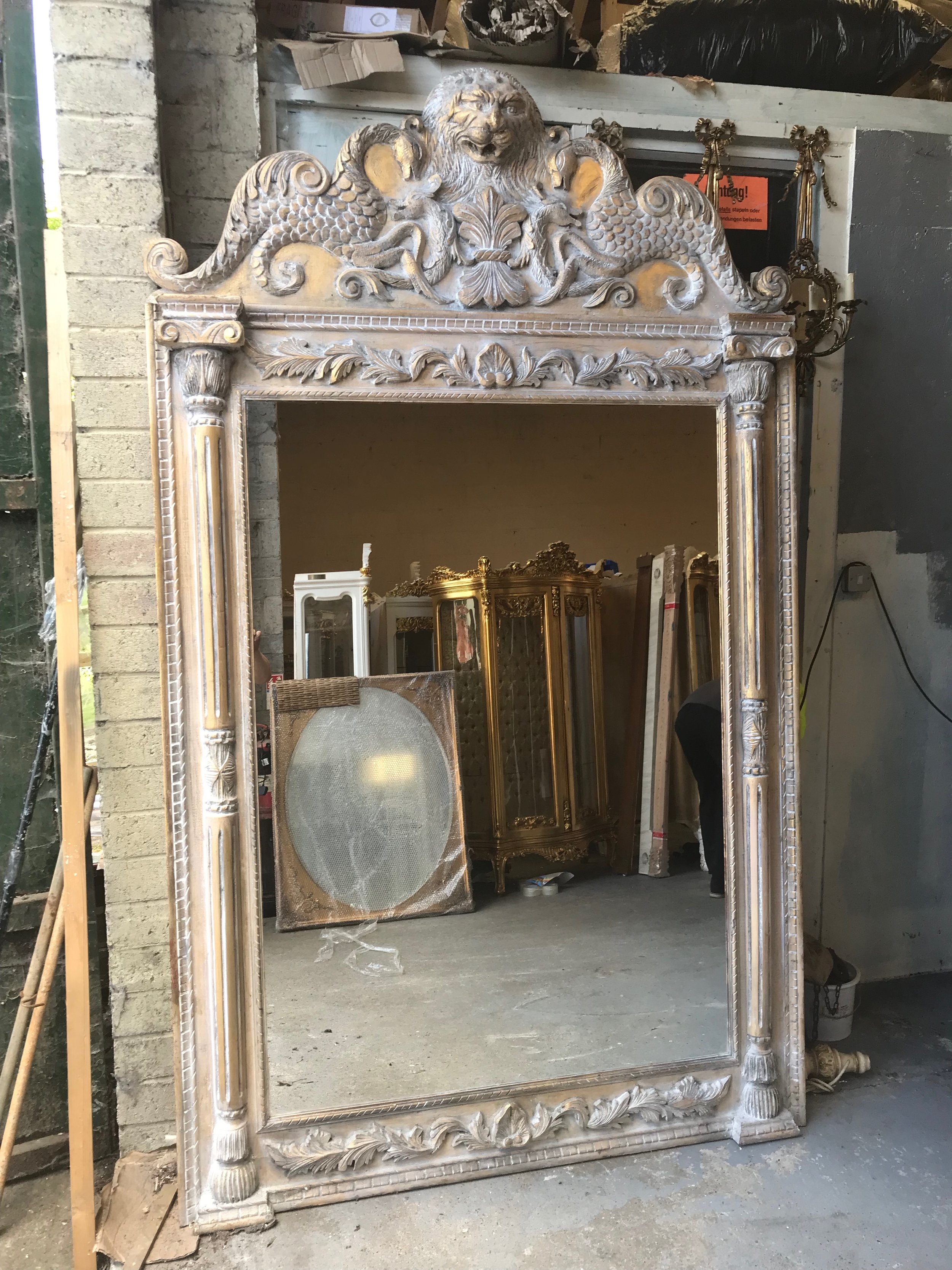 Very nice carved wood antique style mirror