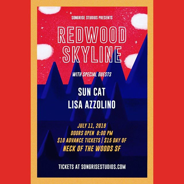 Tonight is the night my loves! We get to celebrate the one and only @themikenike76 of @redwoodskyline and his birthday!!! Along with @sun_cat_supermoon featuring @mitzr on drums and @lisaazzolino opens. It's a #songrisestudios family affair and I can't wait to see y'all! @nowmusicsf at 8pm. 21+, $10/$15. See you soon!