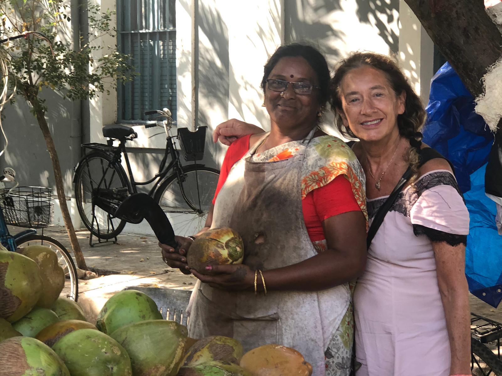 Lovely coconut lady and me