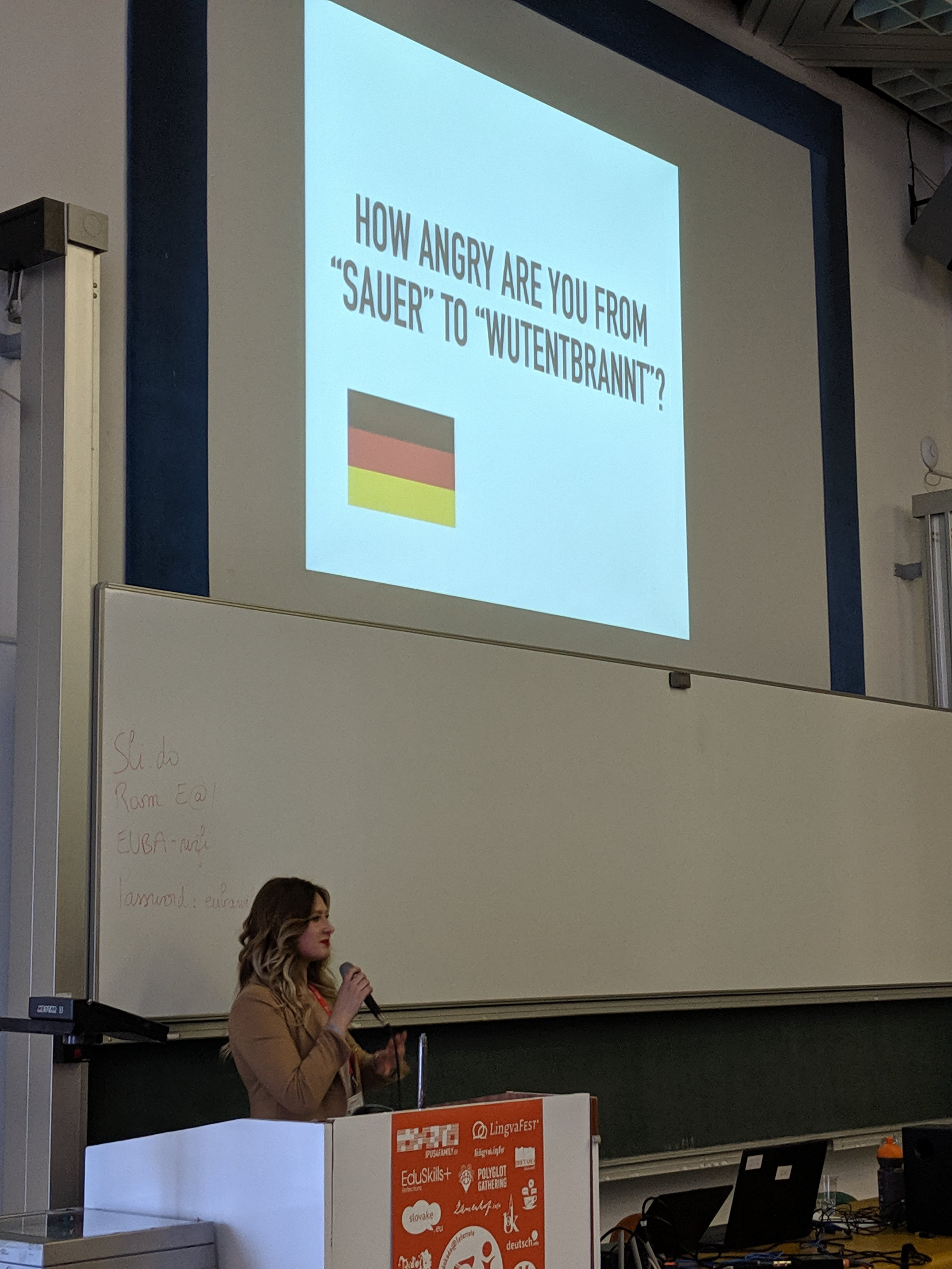 "How angry are you from ""sauer"" to ""wutentbrannt""? Lina Vasquez showed how the words you use can change how you feel."
