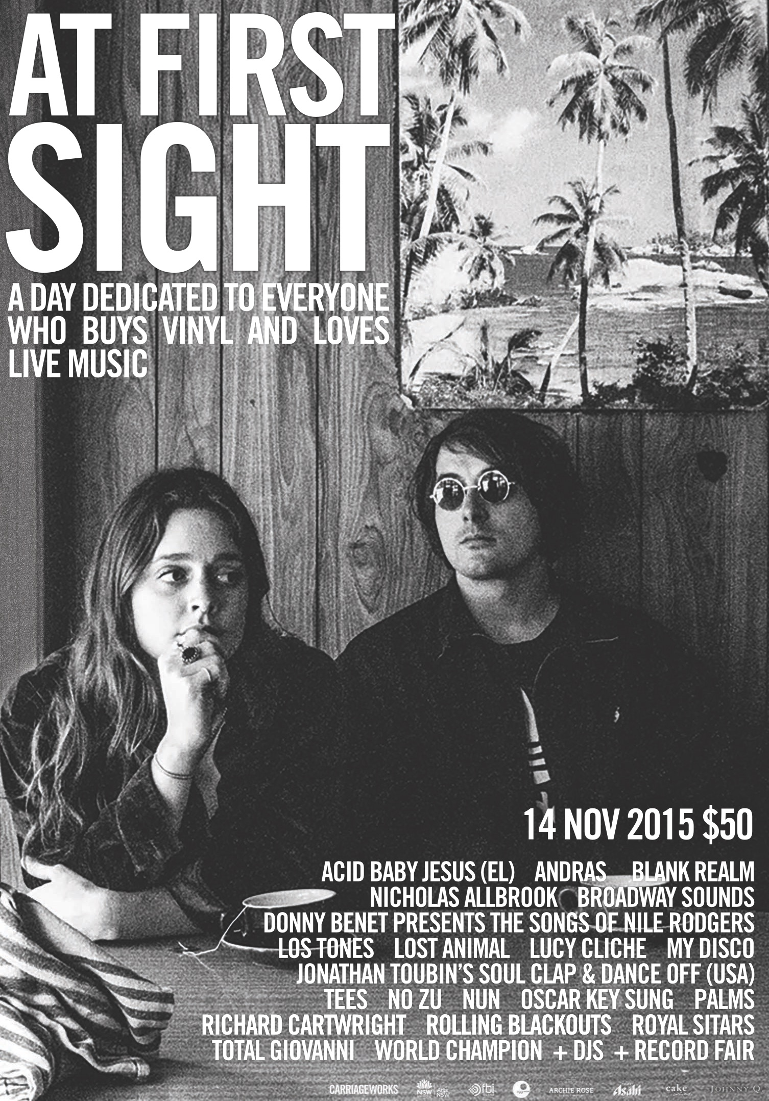 """""""At First Sight"""" event at Carriageworks print ad"""